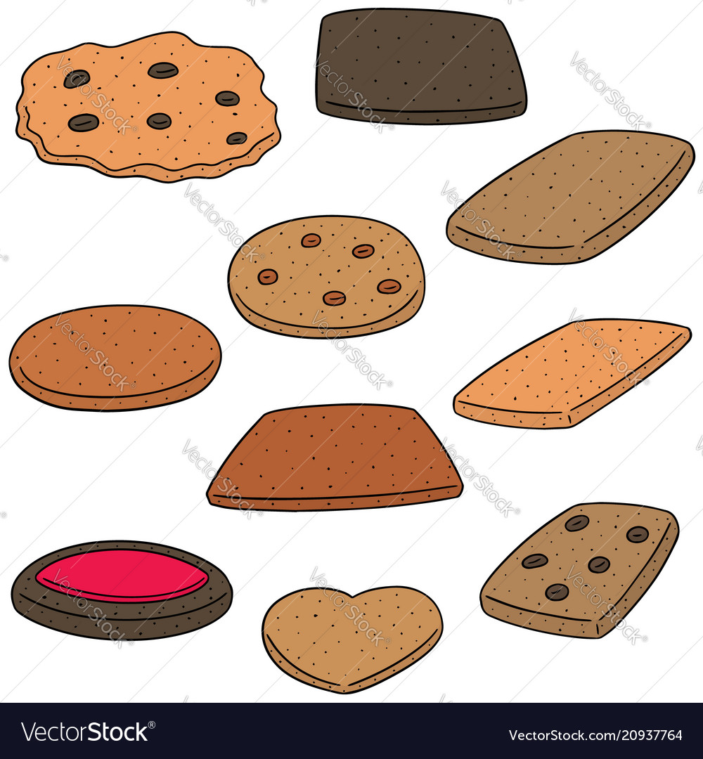 Set of cookies and biscuits