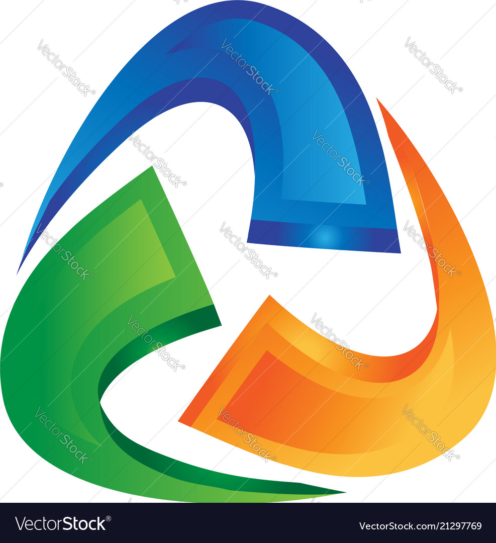 Abstract triangle shape icon