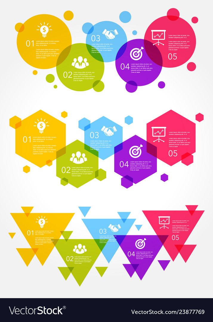 Colorful business infographic