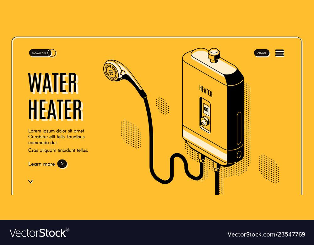 Efficient water heater isometric website