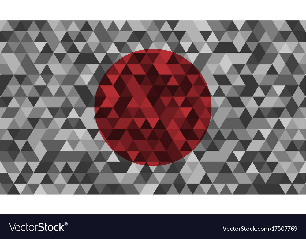 Flag of japan celled stylization japanese vector image