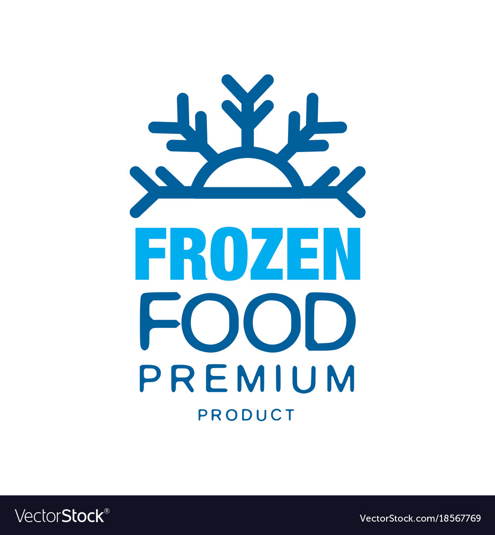 Frozen food premium product label for freezing