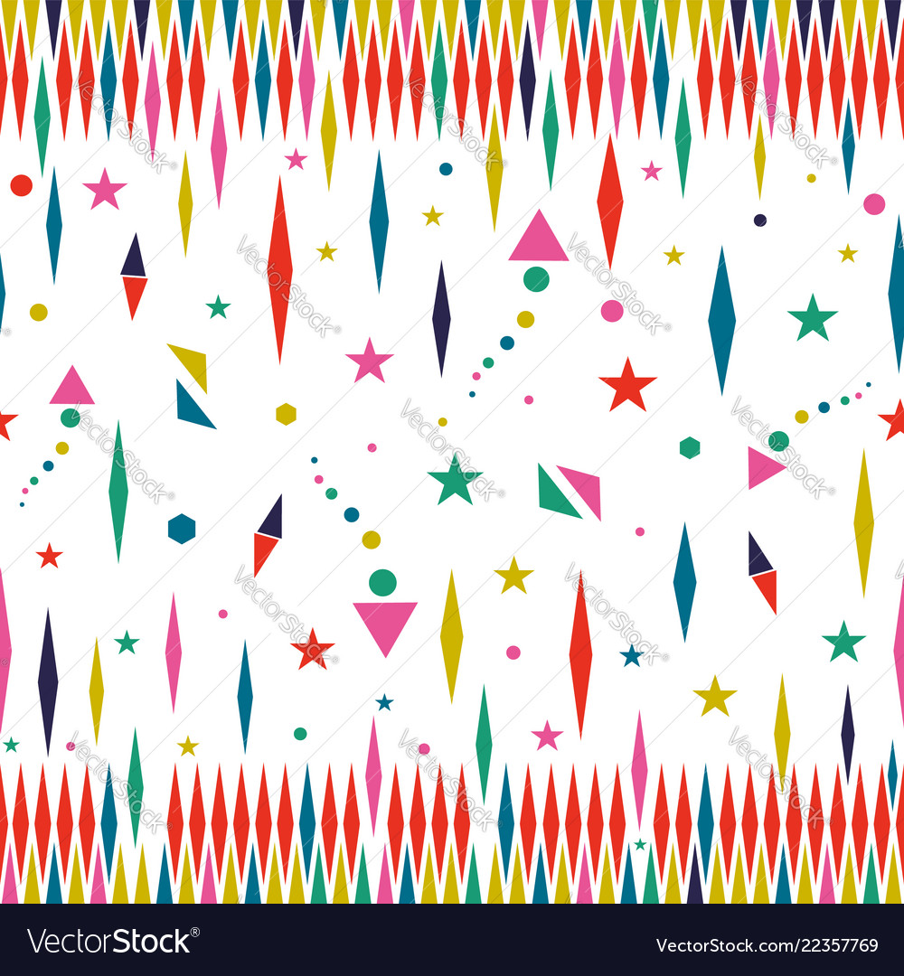 Holiday color stars seamless pattern art