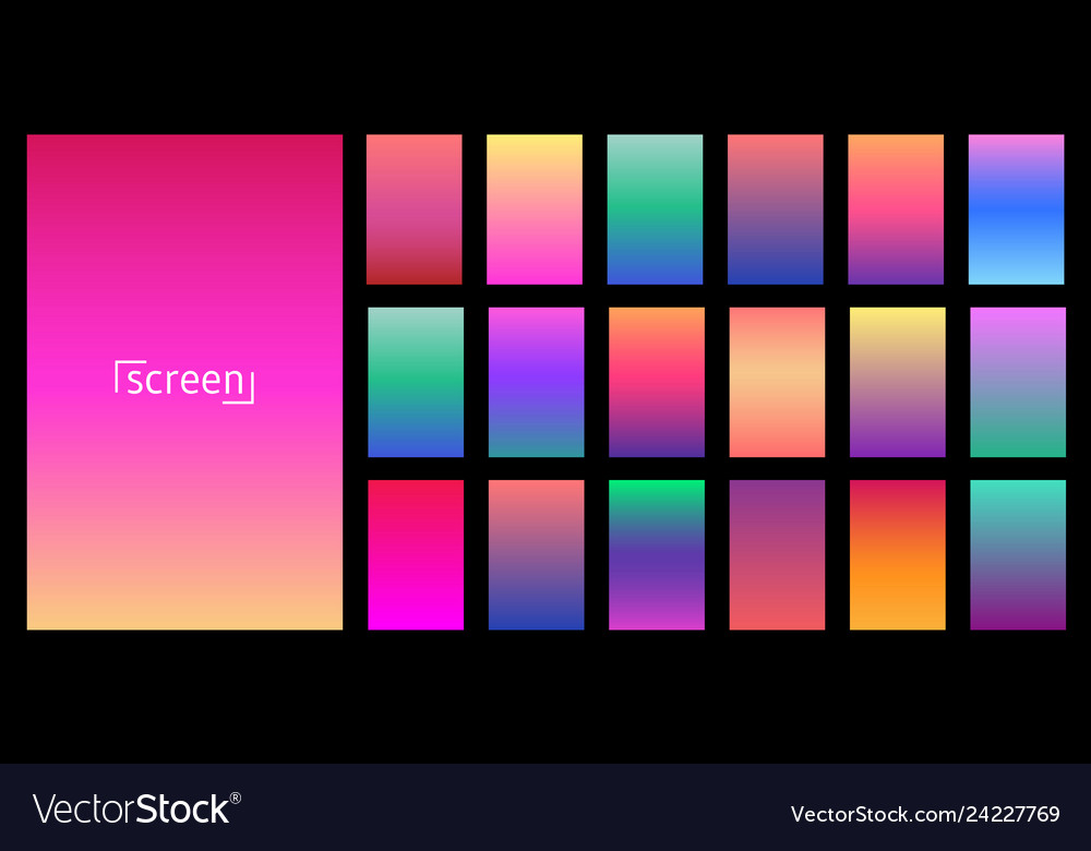 Modern screen design for mobile app collection of