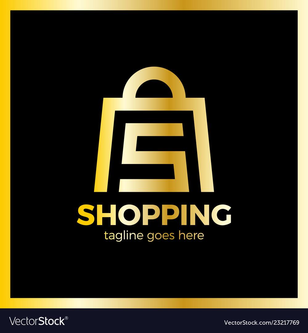 Shop bag logo - letter s