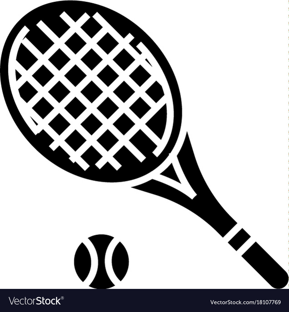 Tennis racket icon black