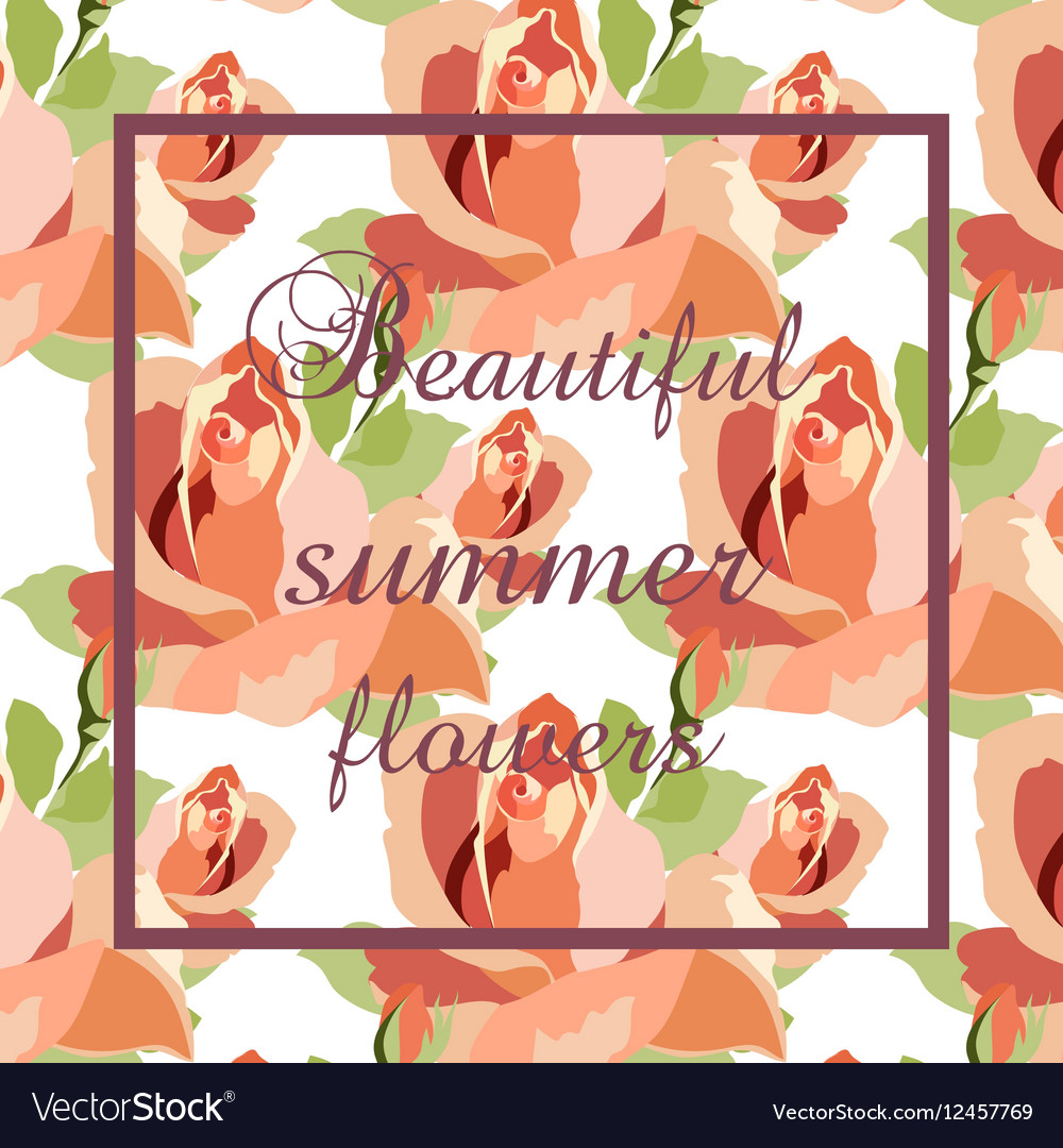 Watercolor Red Roses Card background