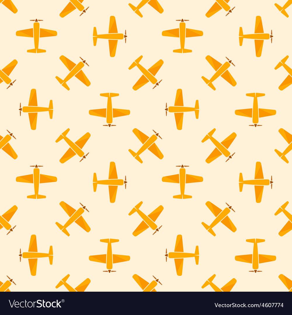 Airplane yellow seamless patten