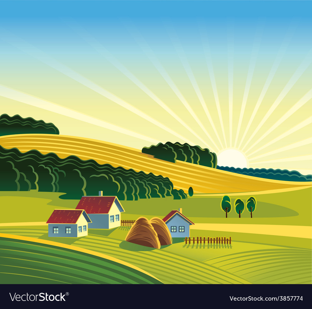 Cartoon Farm design background