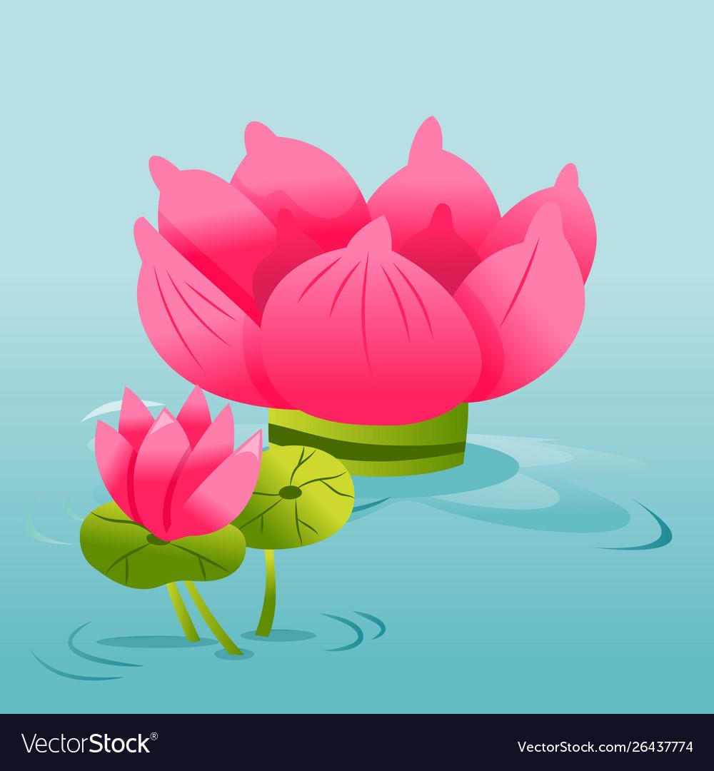 26+ Cute Lotus Flower Cartoon Background