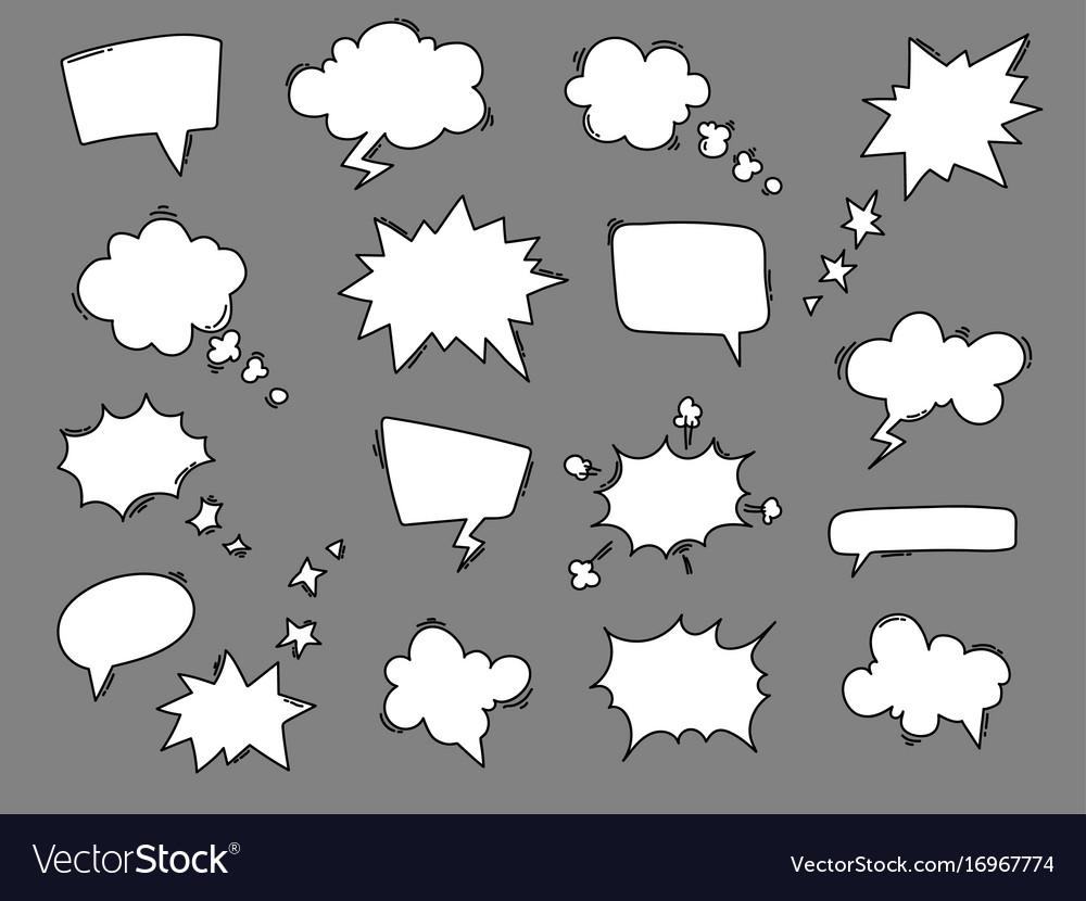 Cartoon speech balloons collection