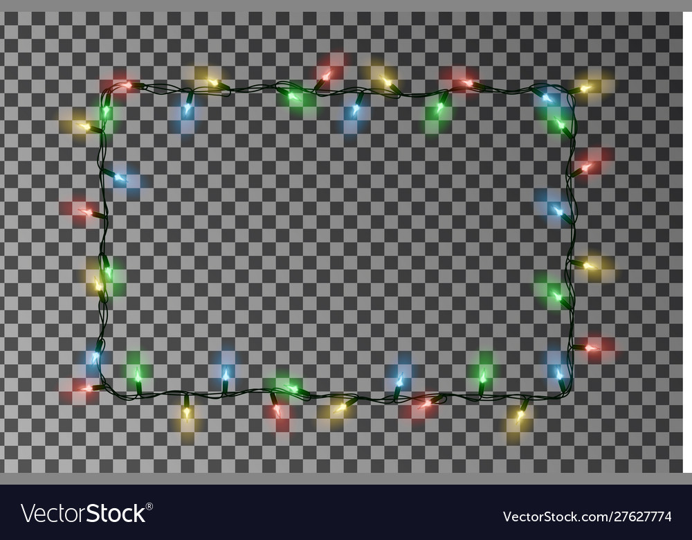Christmas Lights Border Holiday Light Royalty Free Vector ~ video and images of video are copyright to. vectorstock