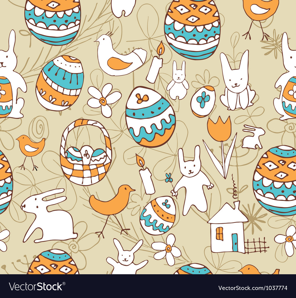 Easter Seamless background with a childrens