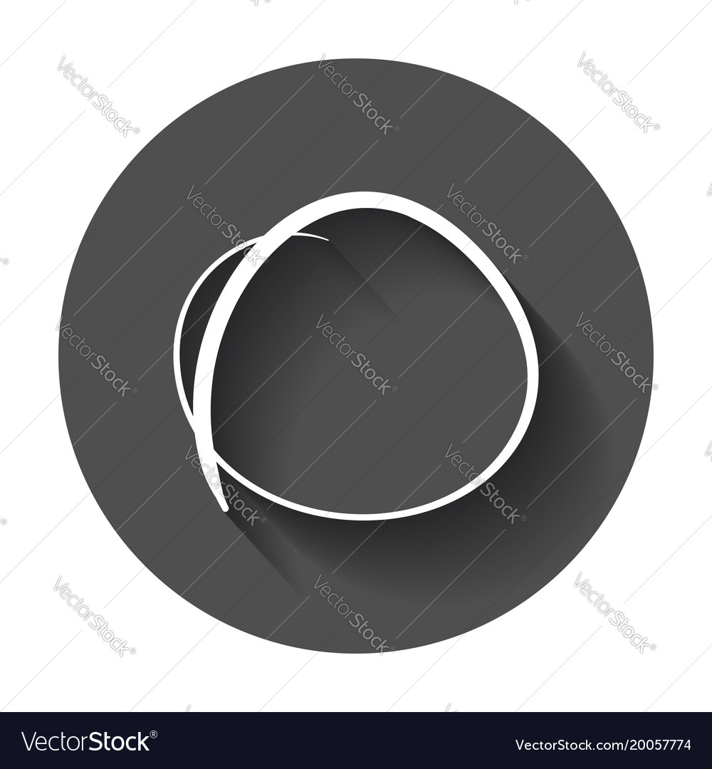 Hand drawn scribble circle element with long vector image