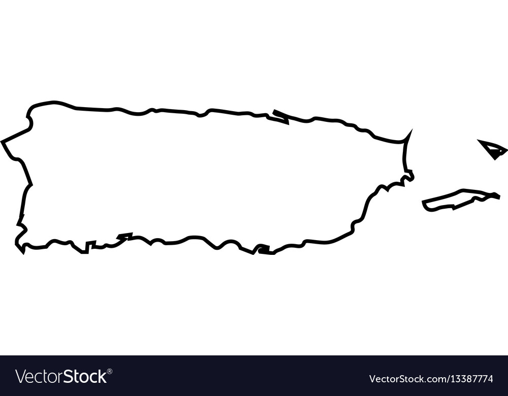 Isolated puerto rico map Royalty Free Vector Image