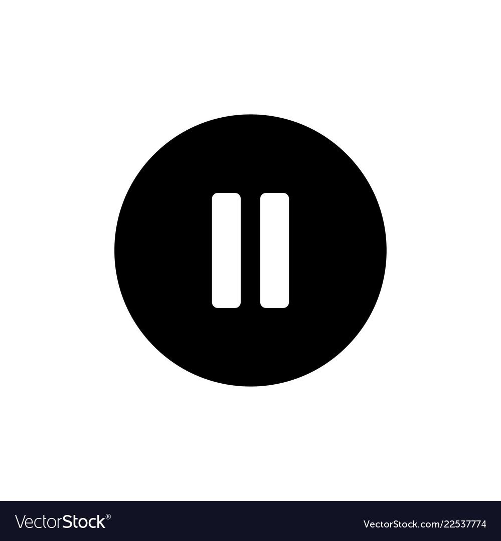 Pause icon button symbol
