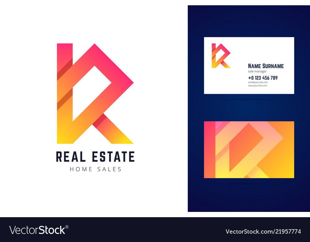 Real estate home sales logo and business card