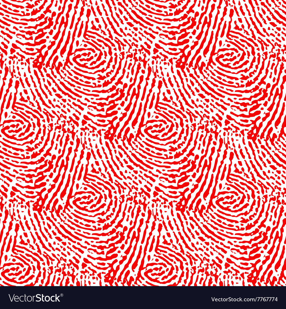 Seamless red background made of abstract curved