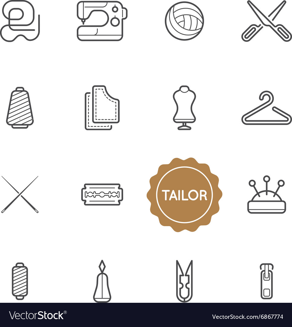 Set of Tailor Elements can be used as Logo or Icon