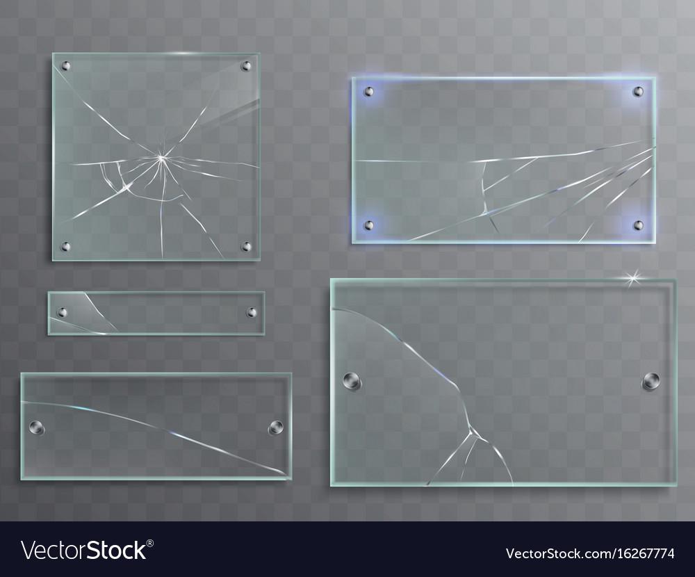 Set of transparent glass vector image