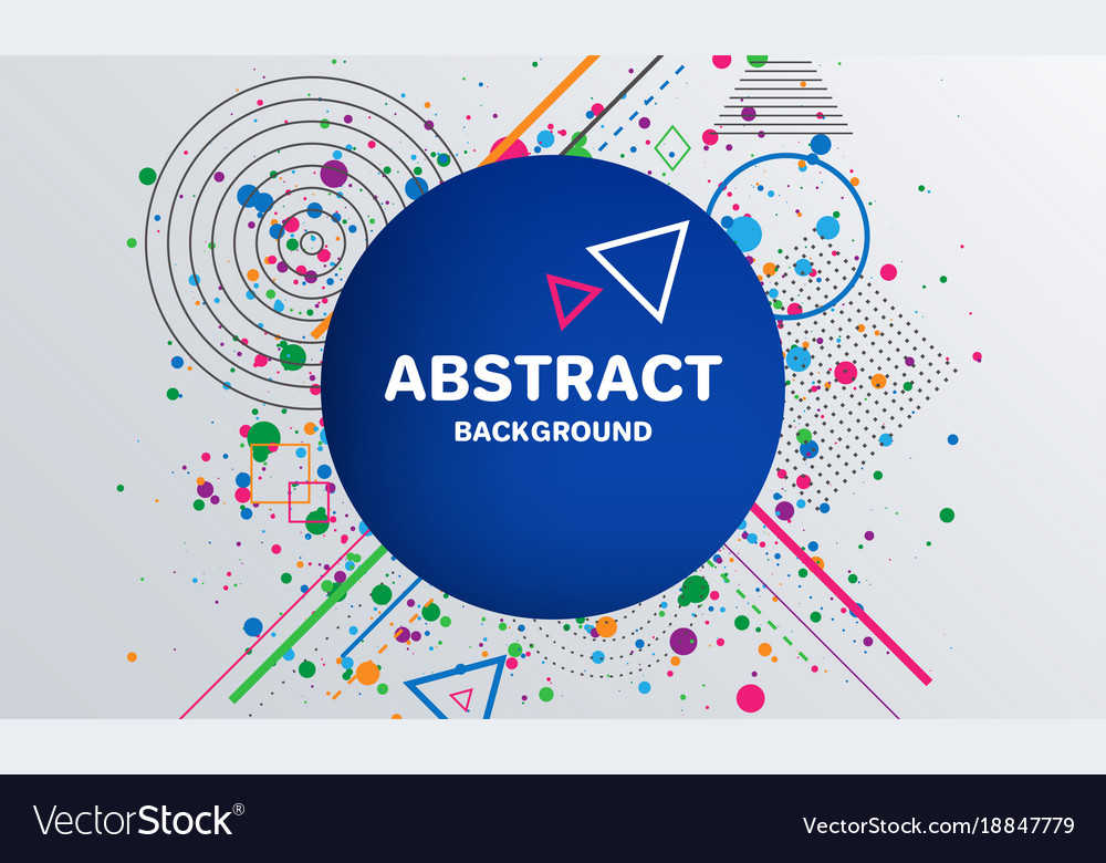 Abstract geometric pattern background with circle