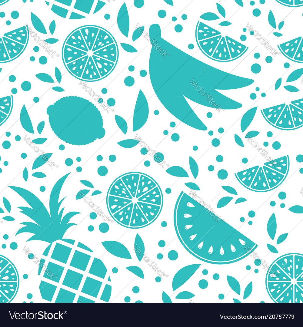 Colorful seamless pattern of silhouettes of
