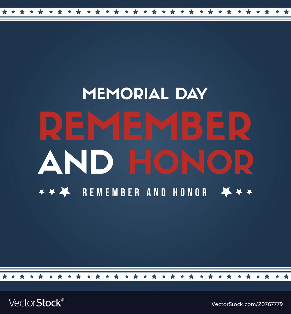 Happy memorial day poster card