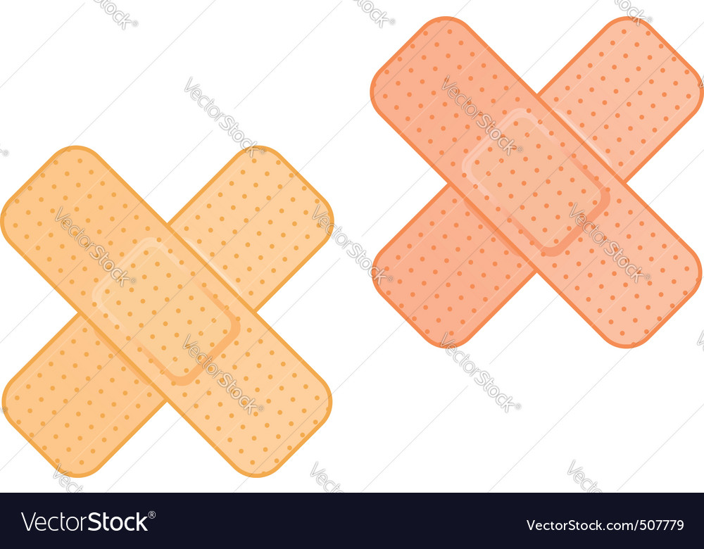 Medical plaster vector image
