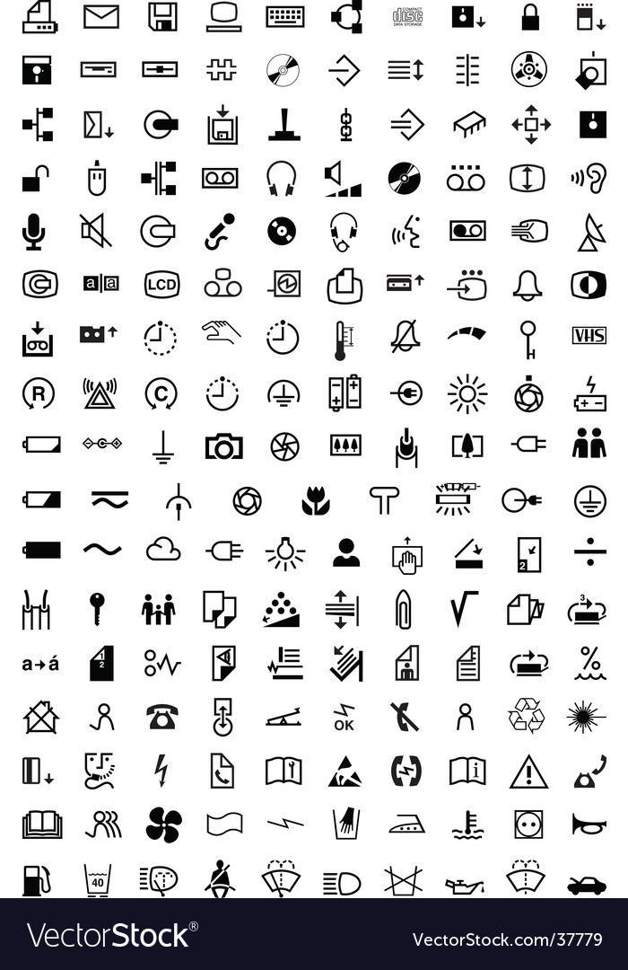 Symbol collection 170 symbols vector image