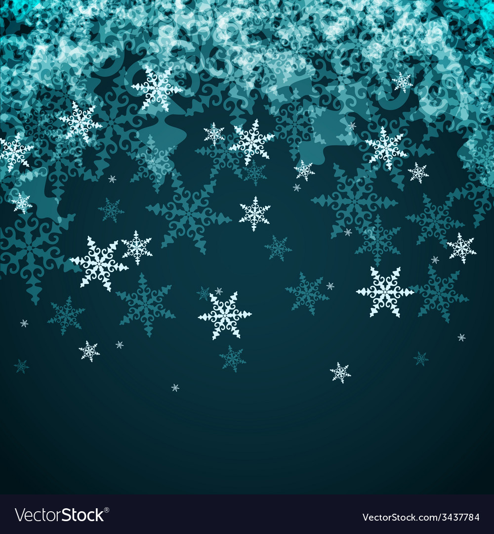 Abstract Winter Background from Snowflakes