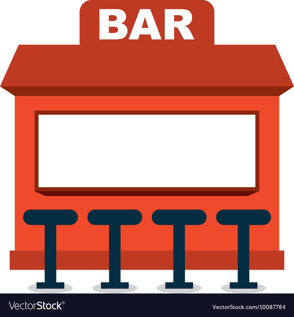 Bar shop building icon