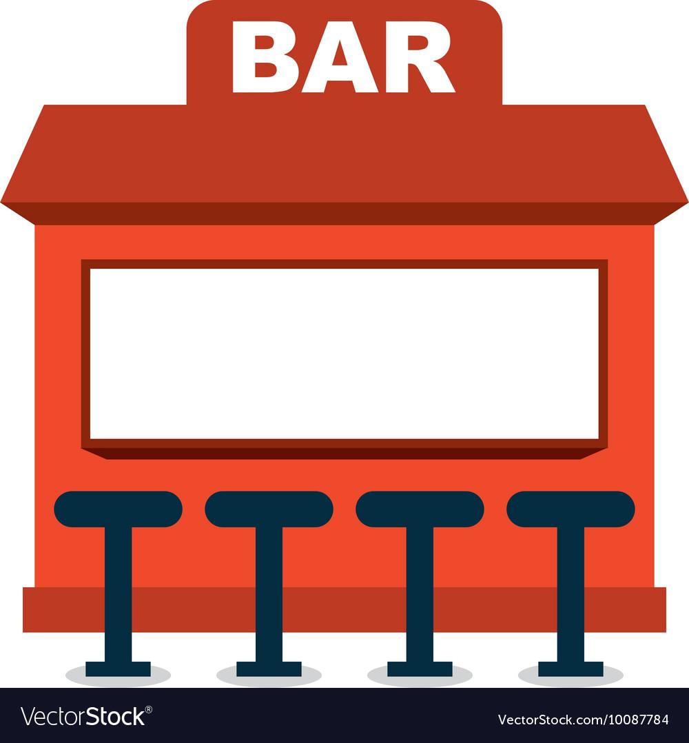 Bar shop building icon vector image
