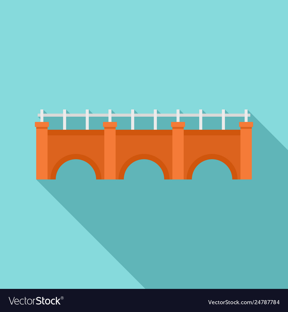 City bridge icon flat style