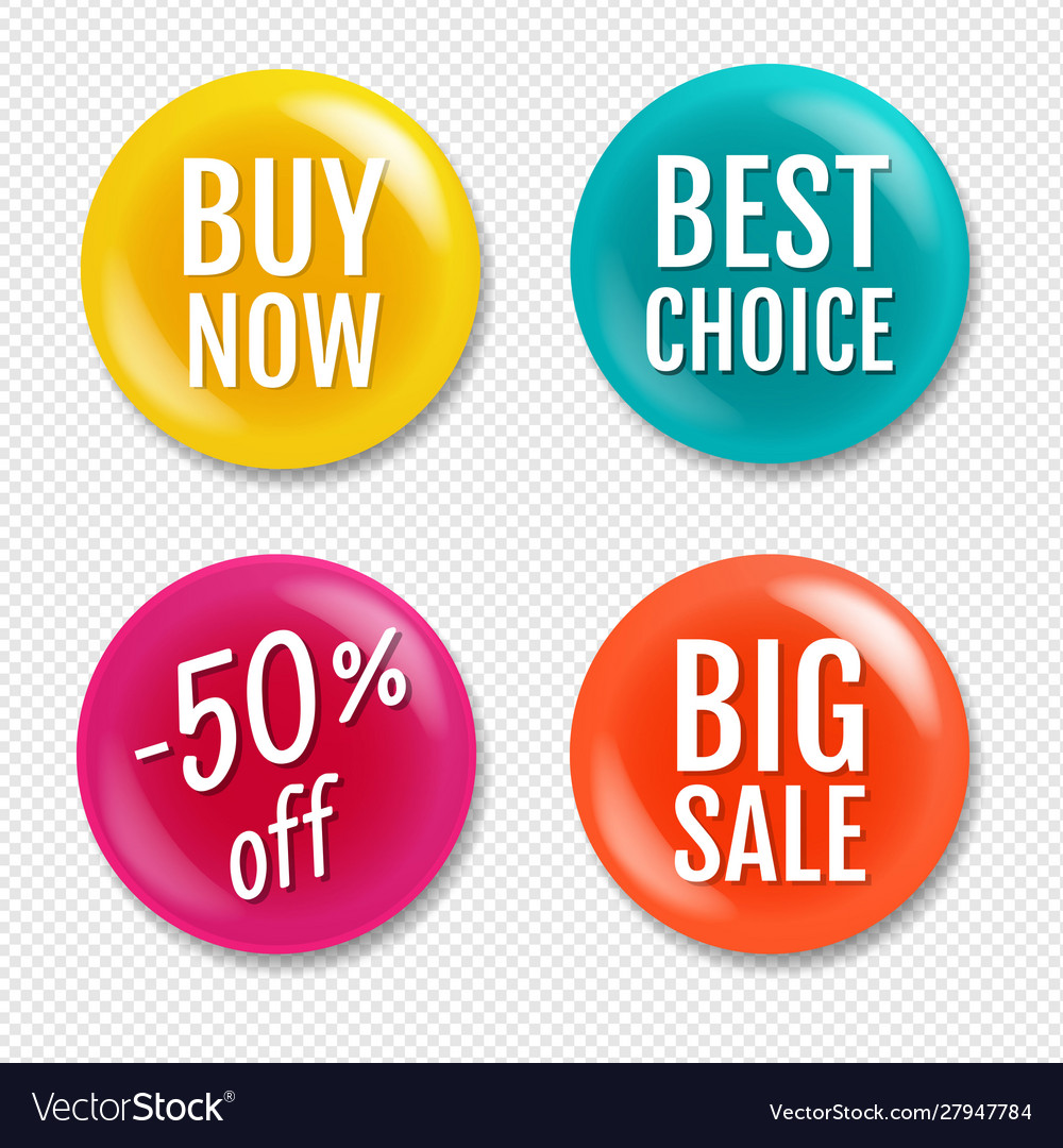 Colorful sale badge isolated transparent