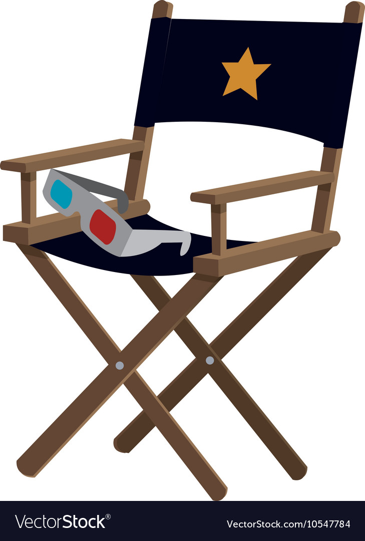 Director chair cinema movie design Royalty Free Vector Image