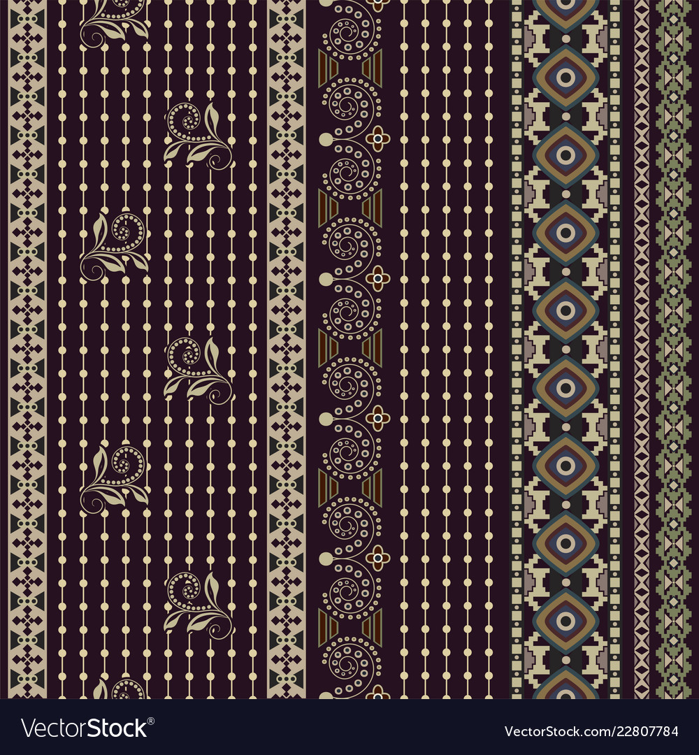Folk ornamental seamless pattern geometric ethnic