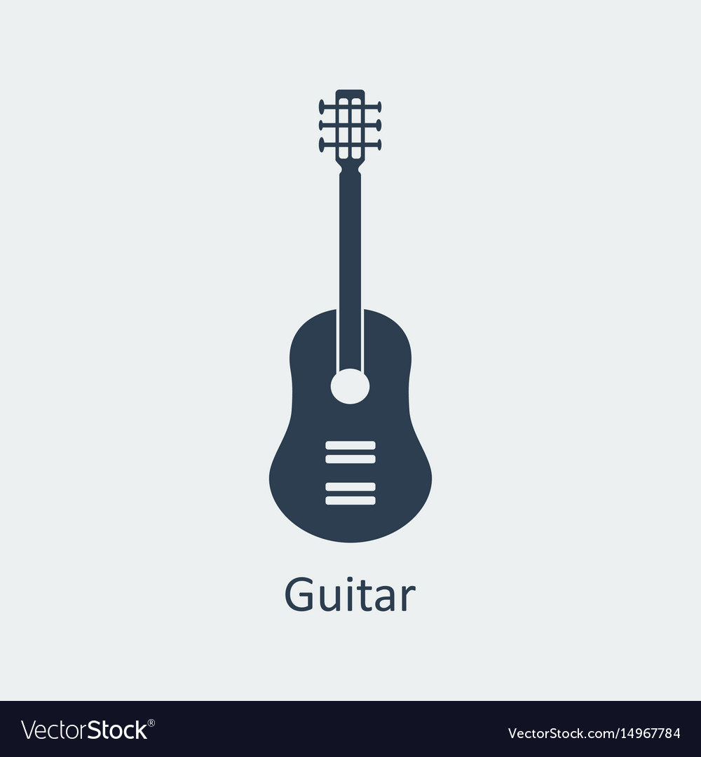 Guitar icon silhouette icon