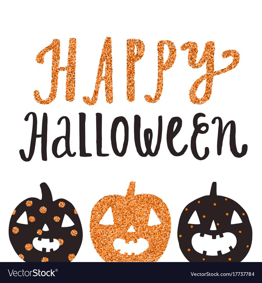 Happy halloween cute greeting card