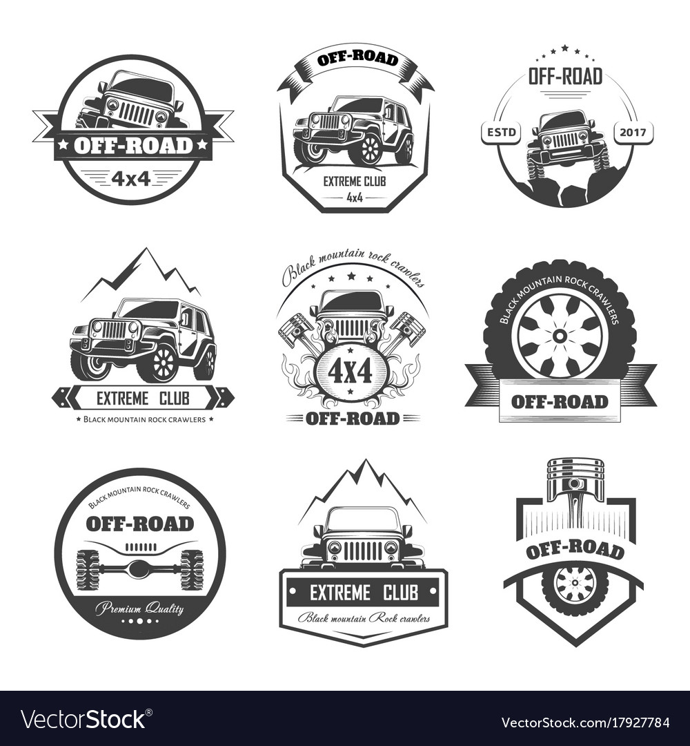 Off-road extreme car or auto driver club