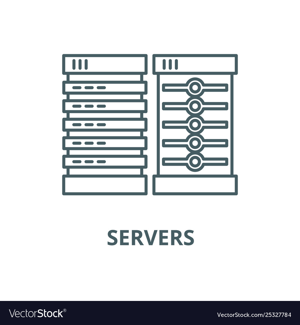 Servers line icon linear concept outline