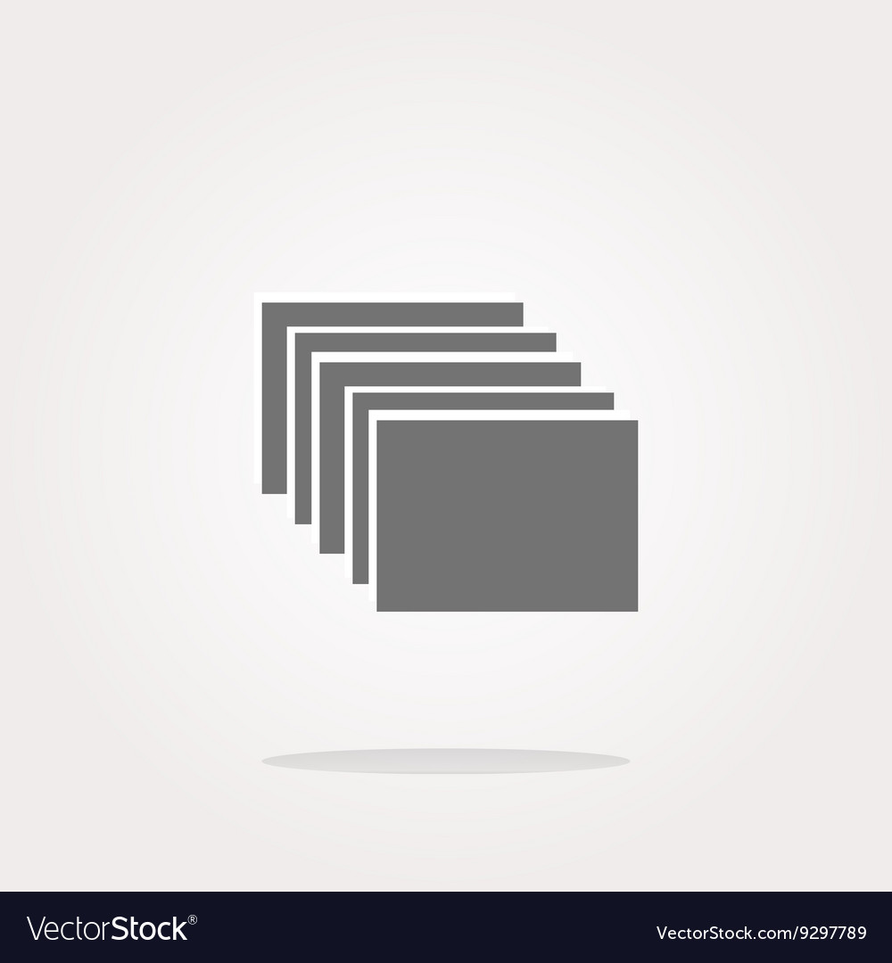 Folders on web icon button isolated on