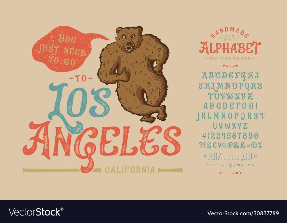 Font los angelesvintage typeface design