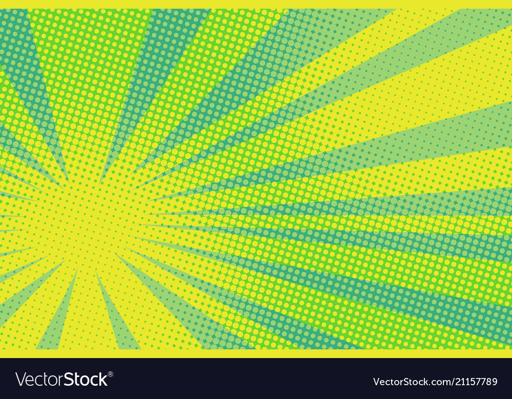 Green yellow pop art background vector