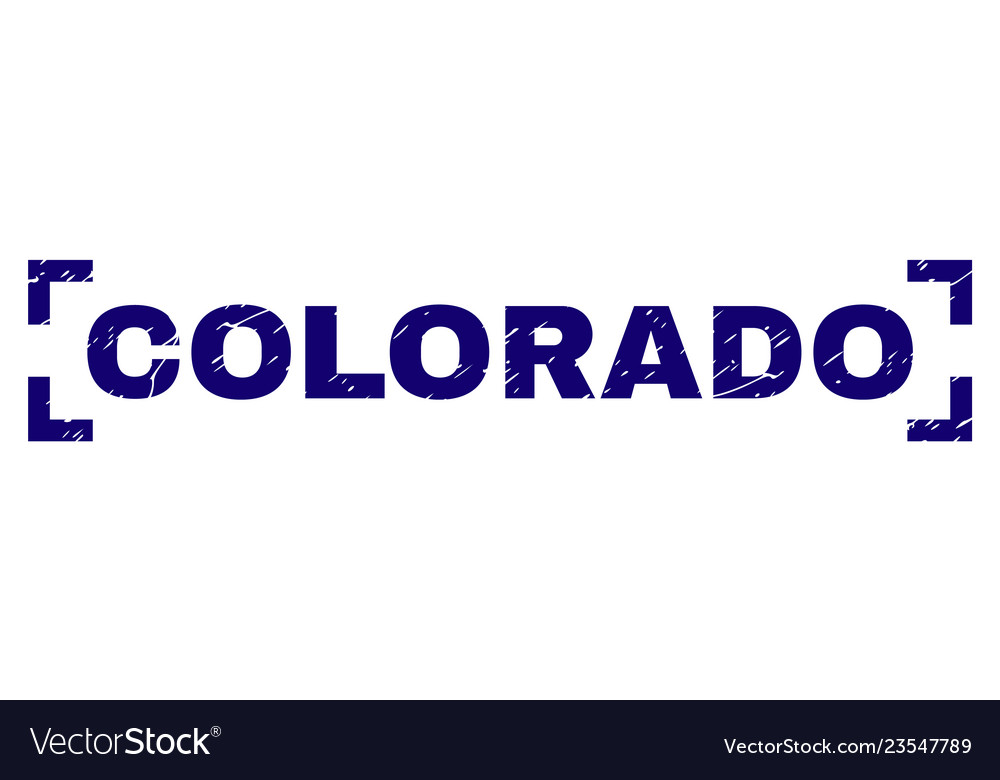 Scratched Textured Colorado Stamp Seal Between Vector Image