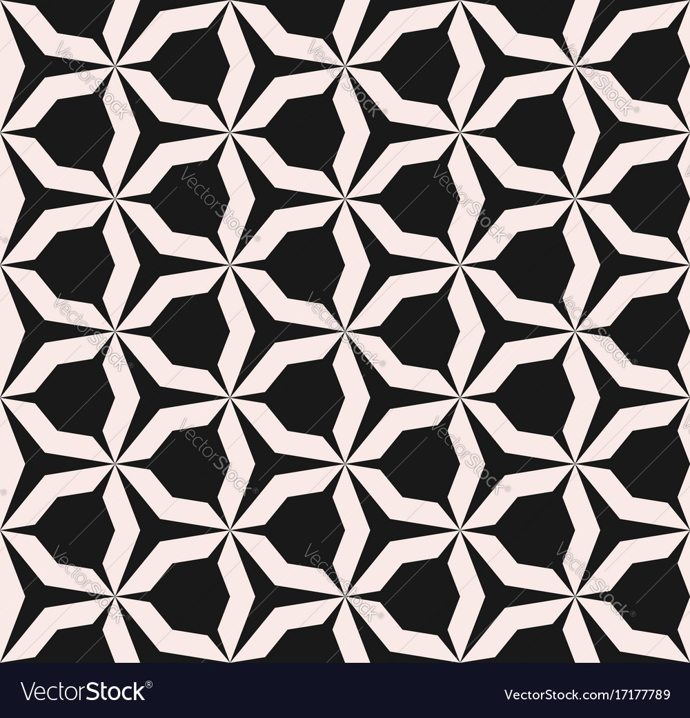Seamless pattern angular figures triangular grid
