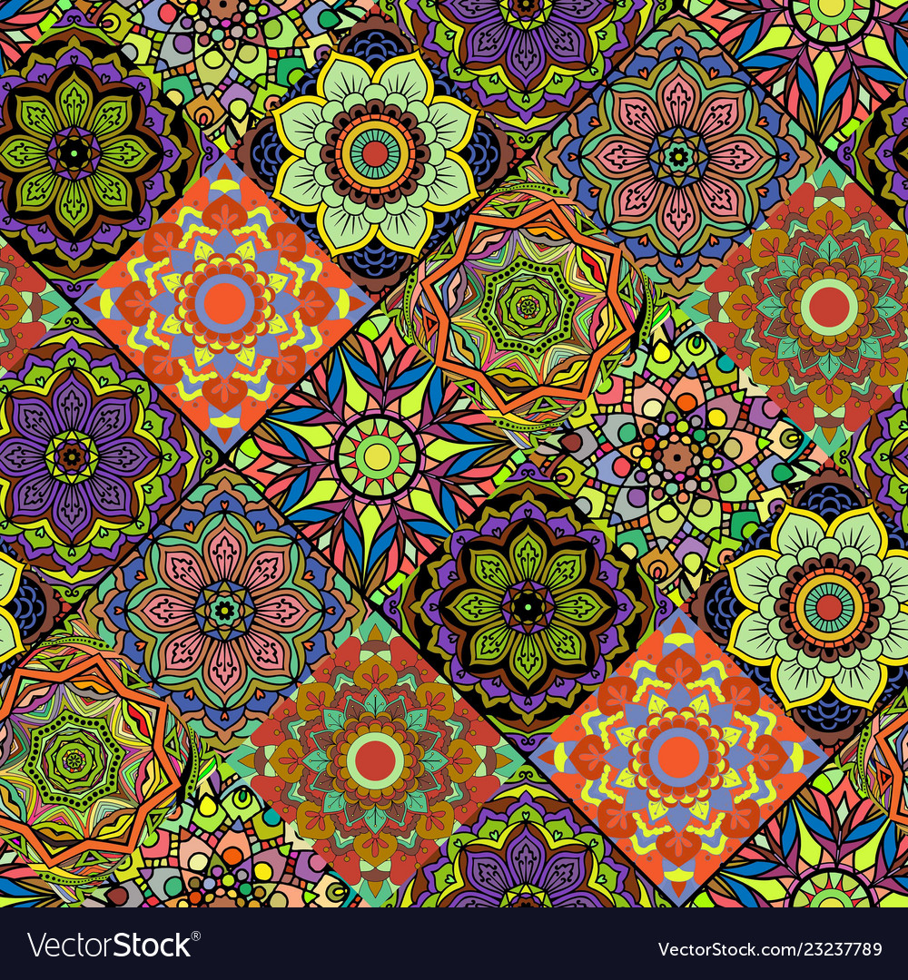 Seamless repeating mandala background