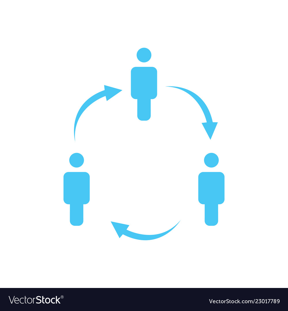 Structure of company icon three people in circle