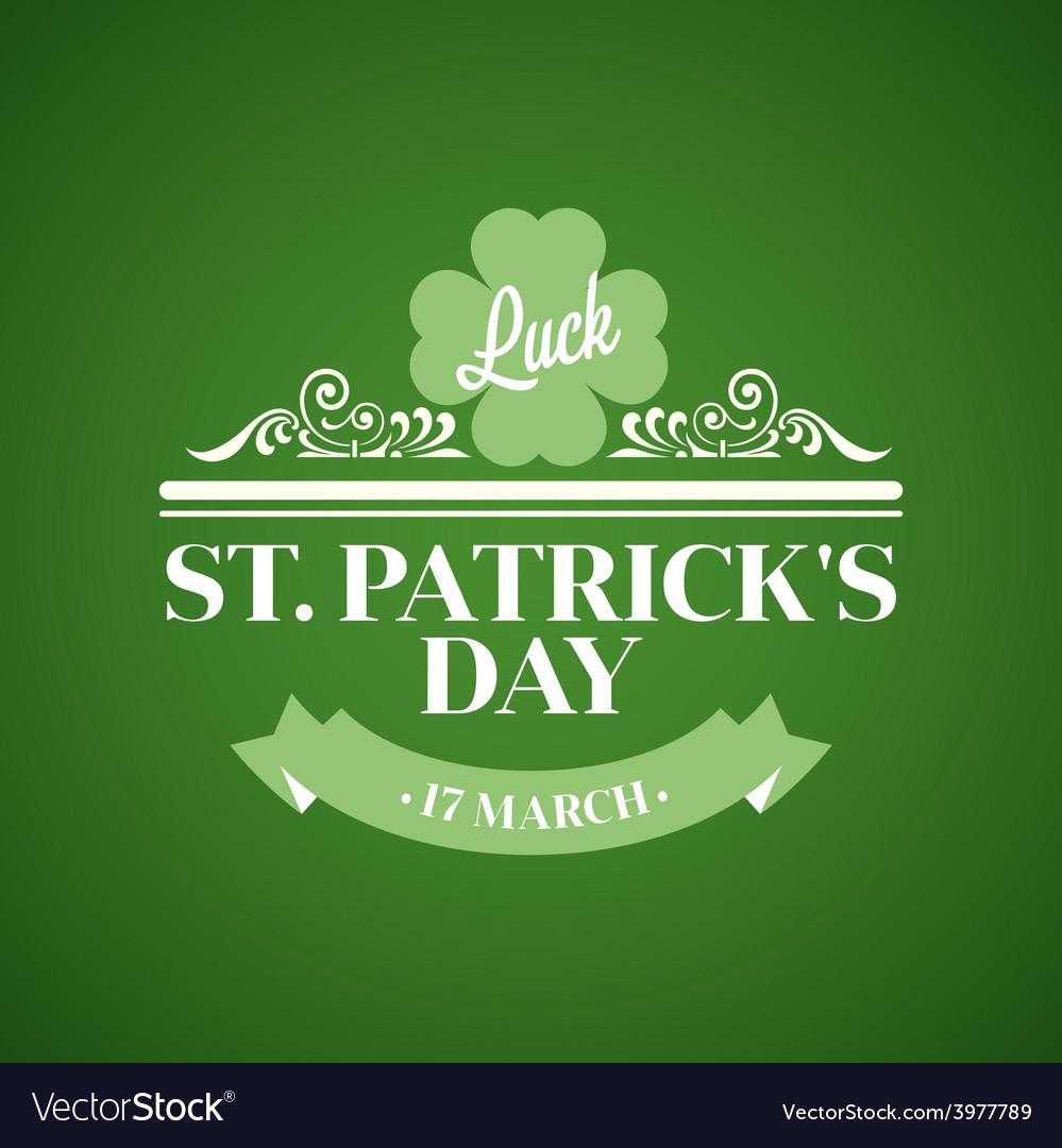 Typography St Patrick Day