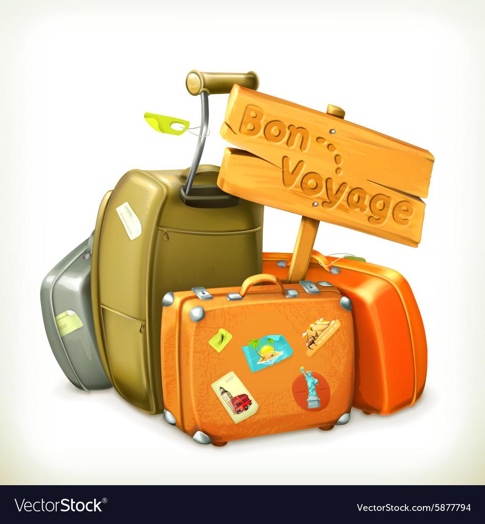 Bon voyage travel icon