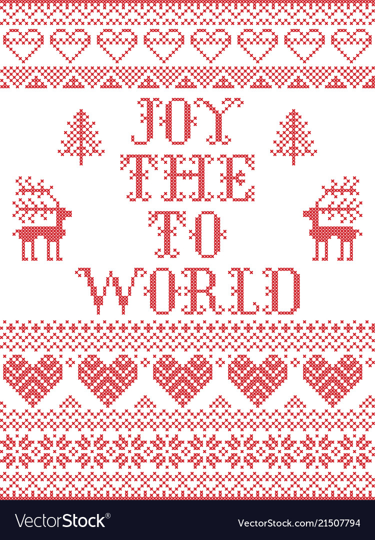 Christmas pattern joy to the world seamless